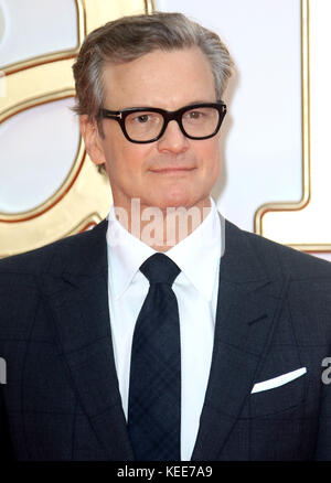 "Sep 18, 2017 - Colin Firth an 'Kingsman: Der Golden Circle"" Weltpremiere, Leicester Square in London, England, Großbritannien - Stockfoto"