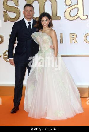 "Sep 18, 2017 - Jenna Dewan, Channing Tatum Teilnahme an 'Kingsman: Der Golden Circle"" Weltpremiere, Leicester Square - Stockfoto"