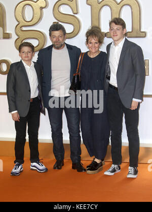 "Sep 18, 2017 - Andy Serkis Teilnahme an 'Kingsman: Der Golden Circle"" Weltpremiere, Leicester Square in London, - Stockfoto"