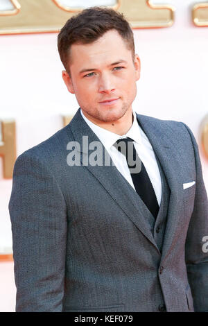 "Weltpremiere von ""kingsman: Der golden circle"" im Odeon Leicester Square in London. Mit: taron egerton Wo: London, - Stockfoto"