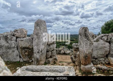 Torre d'en Galmés, Talayotischen Ort auf der Insel Menorca, Spanien - Stockfoto