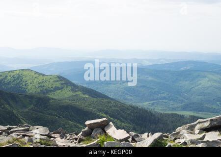 Natura 2000. Bergblick, Beskiden, Babia Góra, Polen. - Stockfoto
