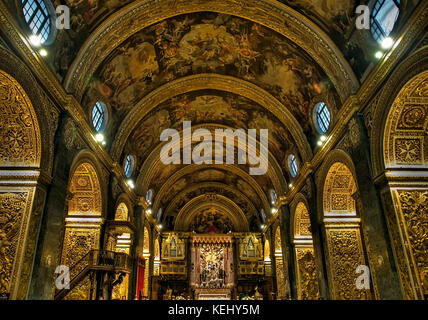 St John's Co-Kathedrale in Valletta in Malta, hier im hdr angezeigt. - Stockfoto