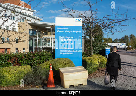 Die Außenseite des Queen Mary's Hospital, Roehampton, London, UK - Stockfoto