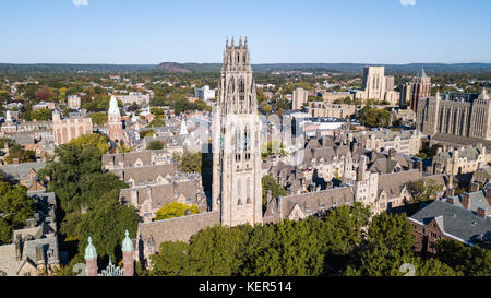 Auf dem Campus der Yale University, New Haven, Connecticut, USA - Stockfoto
