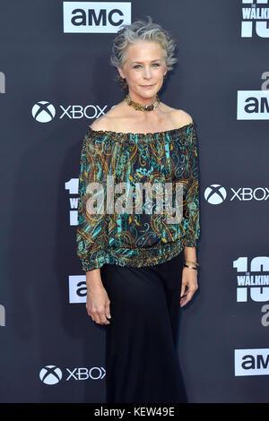 """Los Angeles, USA. 22 Okt, 2017. Melissa mcbride besucht der AMC """"The Walking Dead"""" Jahreszeit 8 Premiere und die - Stockfoto"""