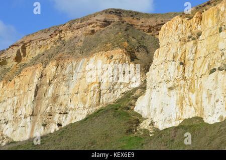 Kreidefelsen Felsformation an der Südküste von England. - Stockfoto