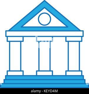 Gebäude Bank Financial Geld sparen Symbol - Stockfoto