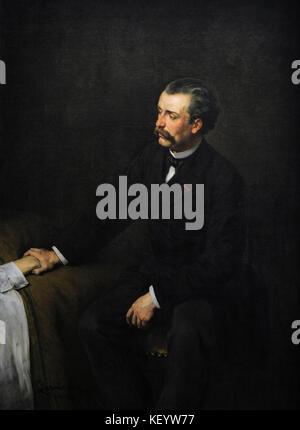 Wladyslaw bakalowicz (1833-1903). Polnische Maler. Portrait von Arzt Friedel, Ca. 1880 Schlesisches Museum. Katowice - Stockfoto