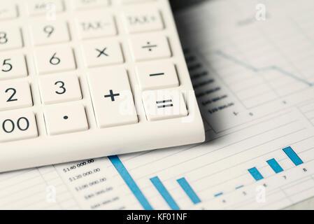 Taschenrechner Konzeptuelles Diagramm - Stockfoto