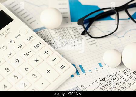 Rechner runden Zahlen Taschenrechner - Stockfoto