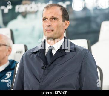 Turin, Italien. 25 Okt, 2017. Massimiliano Allegri (Juventus FC) während theserie a: FC Juventus vs s.p.a.l. 2013 - Stockfoto
