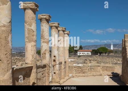 Der archäologische Park Paphos, Paphos, Zypern - Stockfoto