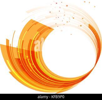 Abstrakte Technologie Kreise orange Hintergrund, motion Zusammensetzung - Stockfoto