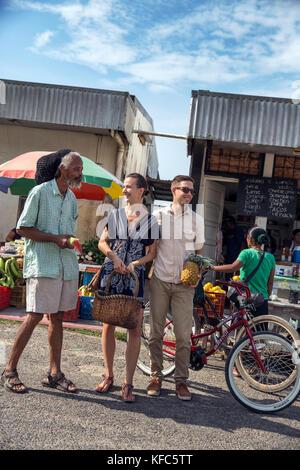 Belize, Punta Gorda, Toledo, Gäste Belcampo Belize Lodge übernachten und Jungle Farm auf dem lokalen Markt in Punta - Stockfoto