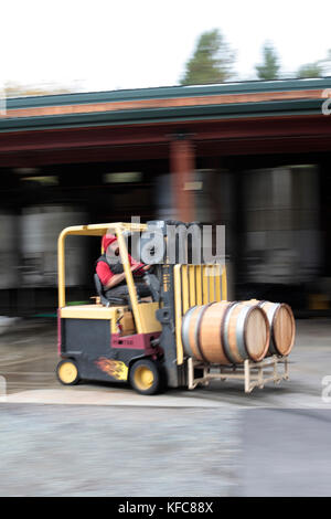 Usa, Oregon, Medford, woolridge Creek Winery im Herzen der Applegate River Valley im südlichen Oregon gelegen ist, - Stockfoto