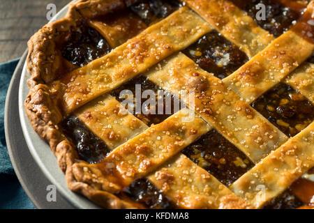 Süße hausgemachte Hackfleisch Torte für die Feiertage - Stockfoto