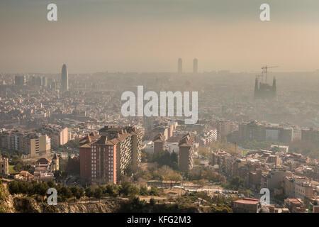 Blick auf Barcelona - Stockfoto
