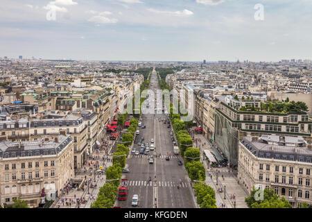 Blick auf Paris Frankreich - Stockfoto