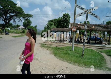 Allgemeine Ansicht des Valle de los ingenios, Bezirk von Trinidad, Kuba - Stockfoto