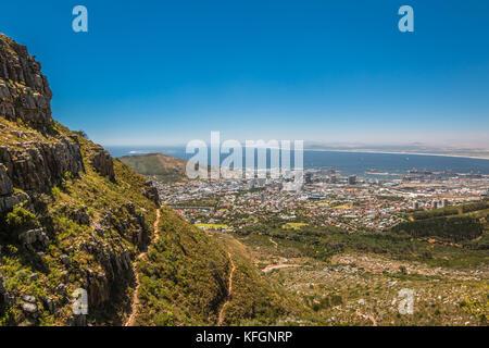 Blick auf Kapstadt Südafrika - Stockfoto