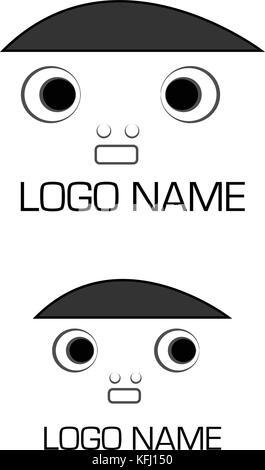 Gesicht symbol Logo Design. - Stockfoto
