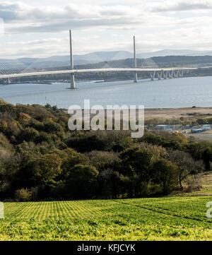 Schottland Rosyth, Blick auf die Neue queensferry crossing 2.7Km Straße Brücke zwischen Edinburgh und Fife. Die - Stockfoto
