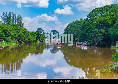 Chiang Mai in Thailand mit Blick auf den Fluss - Stockfoto