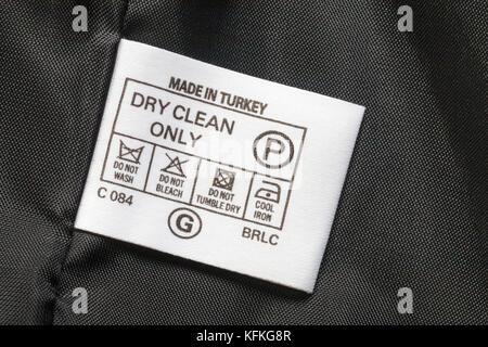 Jacke waschen zeichen