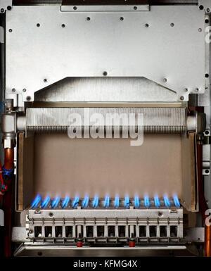 Flamme im Inneren der Gaskessel Stockfoto, Bild: 164564868 - Alamy