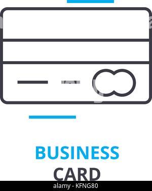 Business card Konzept, Gliederung Symbol, lineare Zeichen, dünne Linie Piktogramm, Logo, Illustration, Vektor - Stockfoto