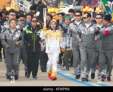 Incheon, Südkorea. 1. November 2017. Sie Junge, Nov 1, 2017: Südkoreanische eiskunstläuferin sie Jung (c) Wer ist - Stockfoto
