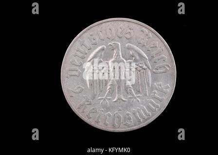Deutschen Reiches Deutsche Alte Münze Martin Luther 2 Mark 1933