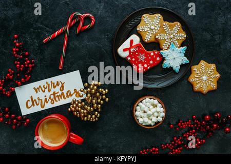 Hausgemachte Weihnachten Lebkuchen - Stockfoto