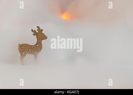 Weihnachten Motiv mit Holzfiguren - Platz für Text - Stockfoto
