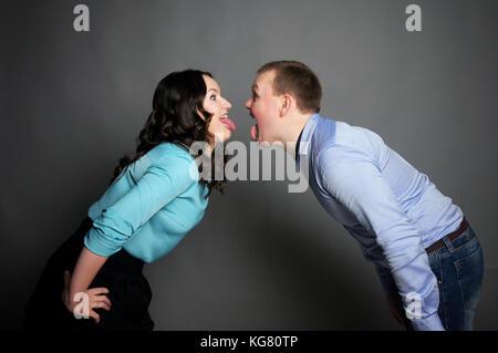 Ein Ehepaar im Studio posing - Stockfoto