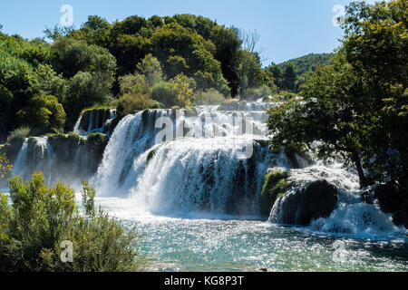 Wasserfall im Nationalpark Krka - Dalmatien, Kroatien - Stockfoto