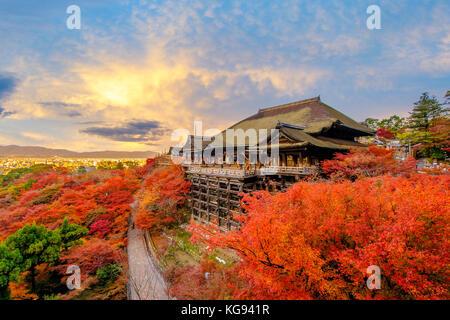 Kiyomizu-dera in Kyoto, Japan - Stockfoto