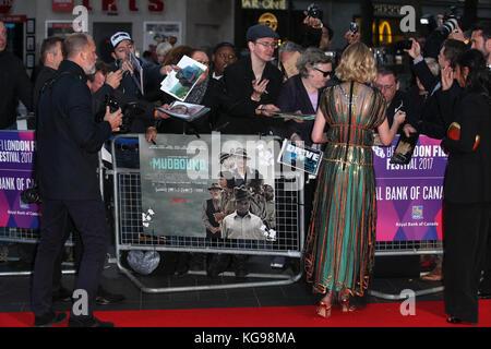 Die bfi lff königliche Bank von Kanada gala europäische Premiere von 'mudbound' im Odeon Leicester Square statt - Stockfoto
