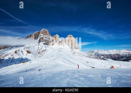 Skigebiet in Dolomiten, Italien - Stockfoto