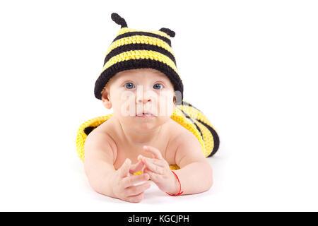 Happy little boy in Biene Kostüm - Stockfoto