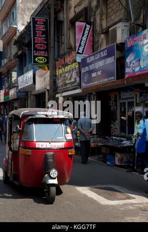 Die pettah Colombo Sri Lanka erste Cross Street Tuk Tuk - Stockfoto