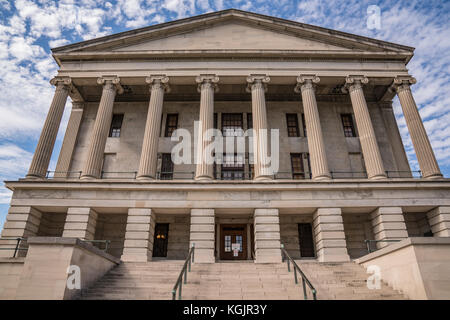 Fassade der Tennessee State Capital Building in Nashville, Tennessee - Stockfoto