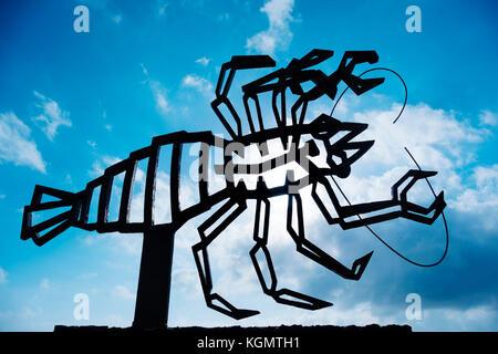 Krabbe Skulptur. Jameos del Agua. Kunst, Kultur und Tourismus Center erstellt von César Manrique. haria Lanzarote - Stockfoto
