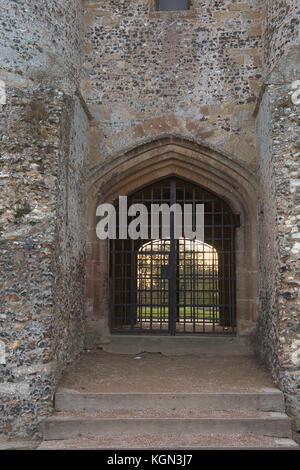 Gateway zu Donnington Castle Ruinen - Stockfoto