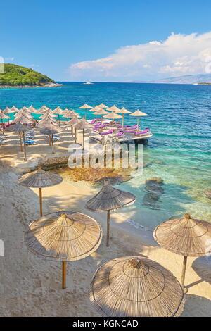 Albanische Riviera, sarande Strand, Albanien - Stockfoto