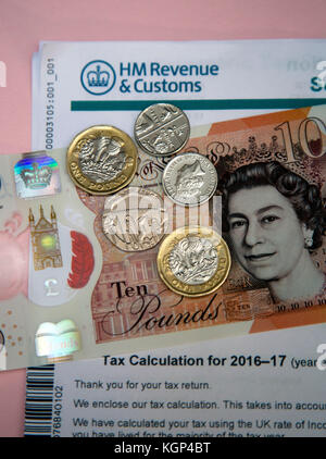 Steuern vom Einkommen und Nachfrage aus hm Revenue & Zoll, London - Stockfoto