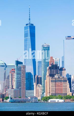 Skyline New York City usa New York Skyline Skyline von Manhattan mit Wolkenkratzern einschliesslich der Freedom - Stockfoto