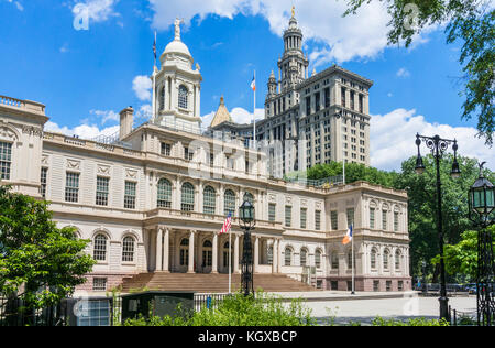 New York city hall New York USA New York New York City Hall New York City Regierungsstellen City Hall Park Manhattan - Stockfoto