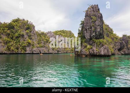 Die grosse Lagune in El Nido Palawan Philippinen - Stockfoto